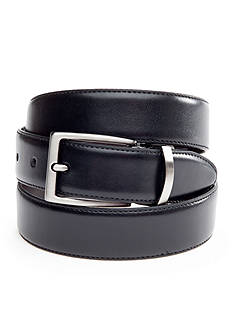 Saddlebred® 1.25-in. Leather Reversible Brushed Nickle Belt