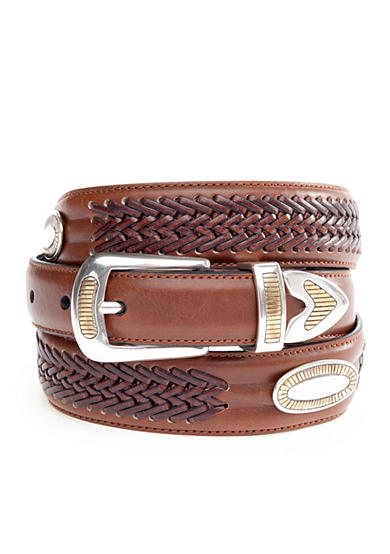 Saddlebred® 1.13-in. Leather Casual Brushed Silver Belt