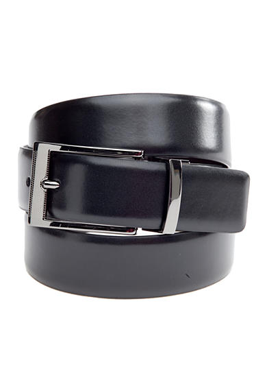 Saddlebred® 1.13-in. Leather Reversible Gunmetal Belt