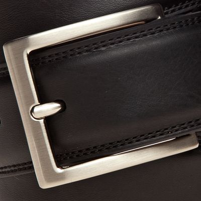 Men: Leather Belts Sale: Black Saddlebred 1.25-in. Leather Casual Belt