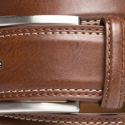 Men: Leather Belts Sale: Cognac Saddlebred 1.25-in. Leather Casual Belt