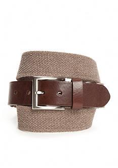 Saddlebred Khaki Heather Stretch Belt