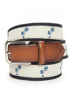 Saddlebred Mens Palm Tree Print Belt