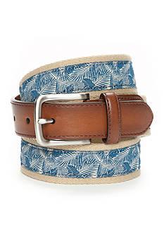 Saddlebred Men's Leaf Print Fashion Belt