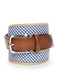 Saddlebred Men's Gingham Print Belt
