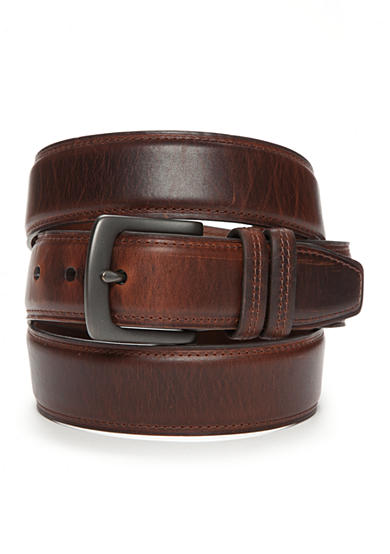 Saddlebred® Big & Tall Dropped Edge With Crease Casual Belt
