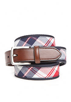 Saddlebred® Big & Tall 1.38-in. Americana Plaid Belt