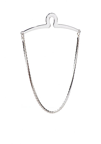 Saddlebred® Flat Silver Tie Chain