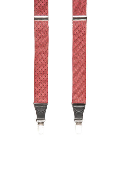 Saddlebred® 32-mm. Textured Non-Stretch Clip Suspenders