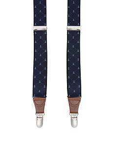 Saddlebred® 1.26-in. Anchor Print Stretch Clip Suspenders