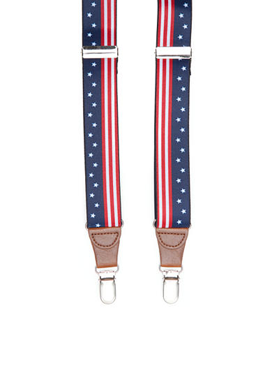 Saddlebred® 1.26-in. Stars And Stripes Stretch Clip Suspenders
