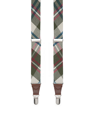 Saddlebred® 1.26-in. Non-Stretch Tubular Plaid Suspenders