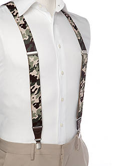 Saddlebred 1.3-in. Camo Stretch Clip Suspenders