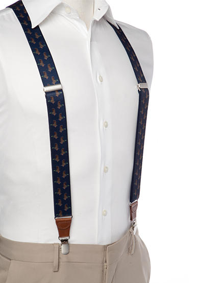 Saddlebred® 1.3-in. Printed Duck Stretch Clip Suspenders
