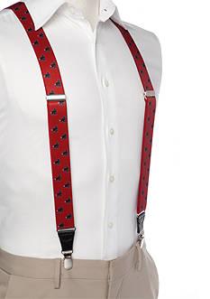 Saddlebred 1.3-in. Printed Black Lab Stretch Clip Suspenders