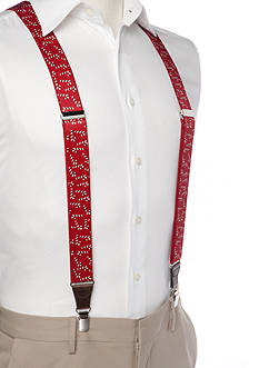 Saddlebred 1.3-in. Candy Cane Printed Stretch Clip Suspenders