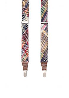 Saddlebred 1.25-in. Woven Bright Plaid Suspenders