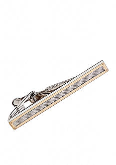 Saddlebred® Gold with Rhodium Mesh Boxed Tie Bar