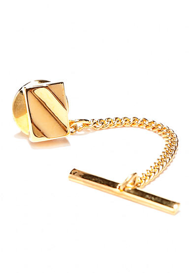 Saddlebred® Gold Rectangle Curve Tie Tack