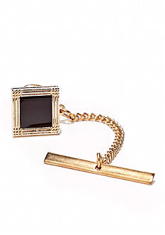 Saddlebred® Gold/Onyx Square Tie Tack