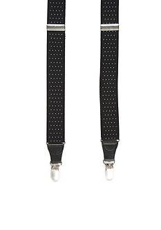 Saddlebred® Big & Tall Pin Dot Stretch Clip Suspenders