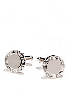 Saddlebred Silver Round Cufflinks