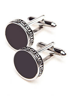 Saddlebred® Black Epoxy with Nickel Cufflinks