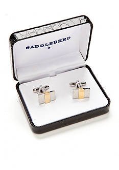 Saddlebred® Gold Center Rectangle Cufflinks