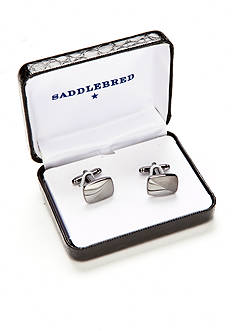 Saddlebred® Gunmetal Diagonal Line Cufflinks