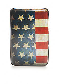 Saddlebred American Flag Security Wallet