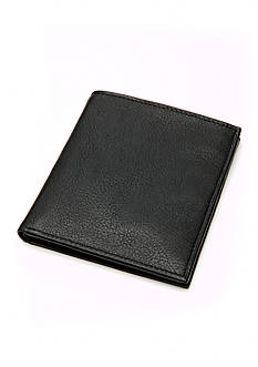 Saddlebred® Vintage Black Leather Organizer Wallet