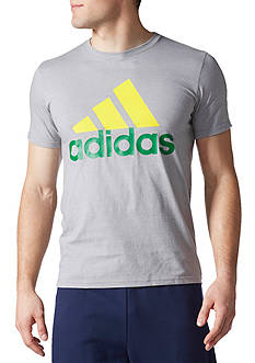 adidas® Go To Performance Heathered Graphic Tee