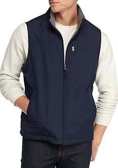 IZOD Ripstop Vest with Fleece Lining