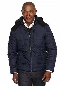 IZOD Active Rib Mid Hooded Jacket