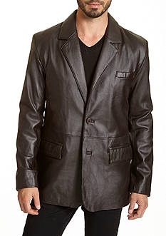 Excelled Lambskin 2-Button Blazer