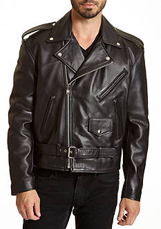 Excelled Asymmetrical Leather Biker Jacket