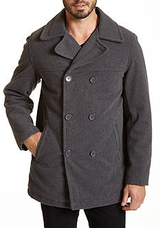 Excelled Classic Wool Peacoat