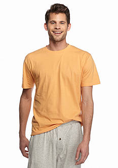 IZOD Short Sleeve Jersey Knit Crewneck Lounge Shirt