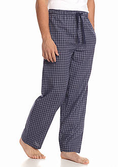 IZOD Check Cotton Lounge Pants