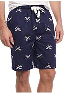 IZOD Cotton Jam Eagle Lounge Shorts