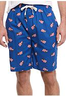 IZOD Cotton Jam Flag Print Lounge Short