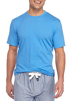 IZOD Short Sleeve Crew Neck Lounge Shirt