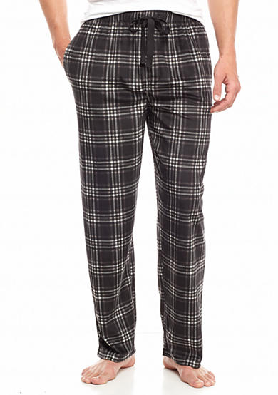 IZOD Plaid Matte Silky Fleece Lounge Pants