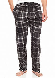 IZOD Big & Tall Plaid Matte Silk Fleece Lounge Pants