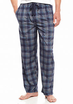 IZOD Big & Tall Plaid Matte Silk Lounge Pants