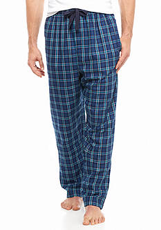 IZOD Big & Tall Plaid Lounge Pants