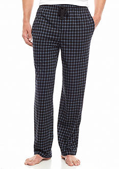 IZOD Plaid Printed Knit Lounge Pants