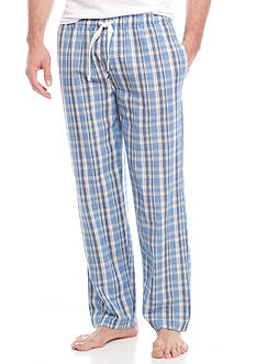 IZOD Plaid Cotton Lounge Pants