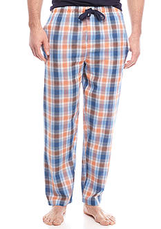 IZOD Cotton Plaid Lounge Pant