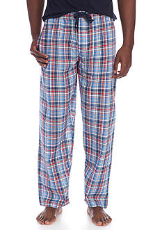 IZOD Cotton Plaid Lounge Pants